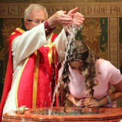 An Adult Baptism at St Alban's Church