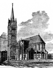 JL Pearson's Drawing for the Present Church of St Alban the Martyr